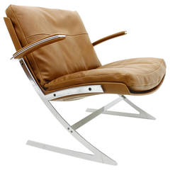 Very Rare Lounge Chair by Preben Fabricius for Arnold Exclusiv, 1972