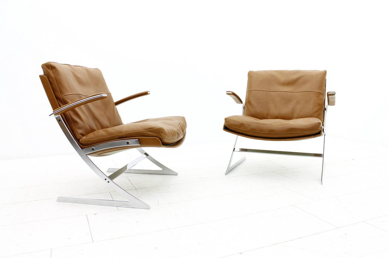 Paar Lobby Loungesessel von Preben Fabricius für Arnold Exclusiv, 1972 2