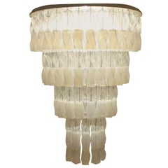 Huge Murano Chandelier by Roberto Pamio & Renato Toso for Leucos, Italy, 1970
