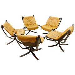 Set of Five Sigurd Resell Falcon Chairs, Vatne Møbler, Norway, 1971