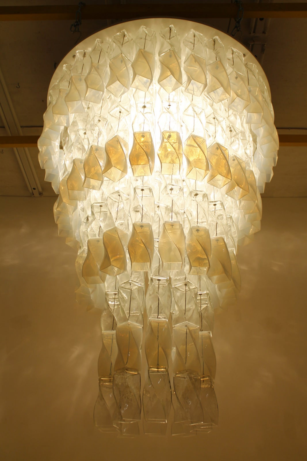 Huge Murano Chandelier by Roberto Pamio & Renato Toso for Leucos, Italy, 1970 In Good Condition For Sale In Frankfurt / Dreieich, DE