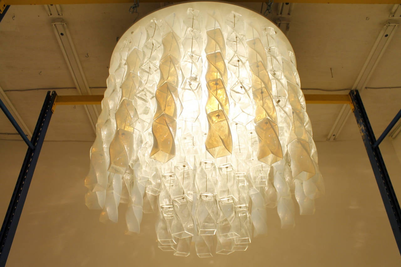 Huge Murano Chandelier by Roberto Pamio & Renato Toso for Leucos, Italy, 1970 For Sale 1