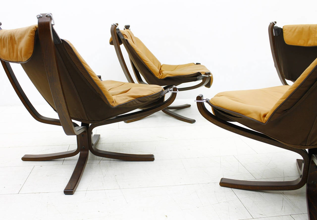 ... Sigurd Resell Falcon Chairs, Vatne M?bler, Norway, 1971 at 1stdibs
