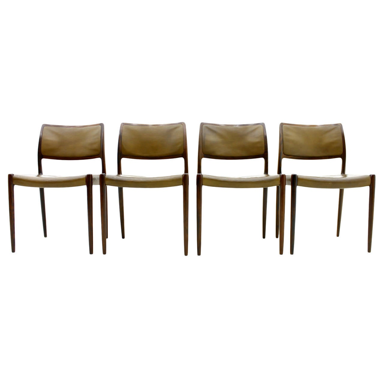Set Of Four Niels O M Ller Rosewood Dining Room Chairs