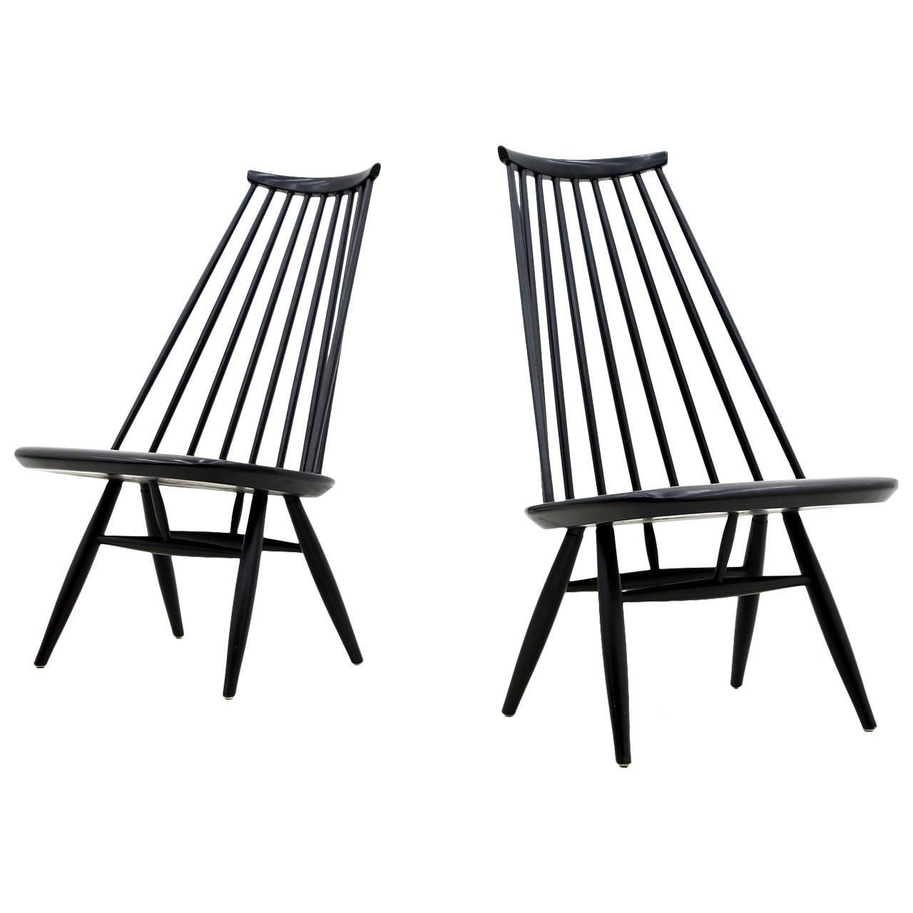Pair of Mademoiselle Lounge Chairs by Ilmari Tapiovaara for Asko, Finland, 1956