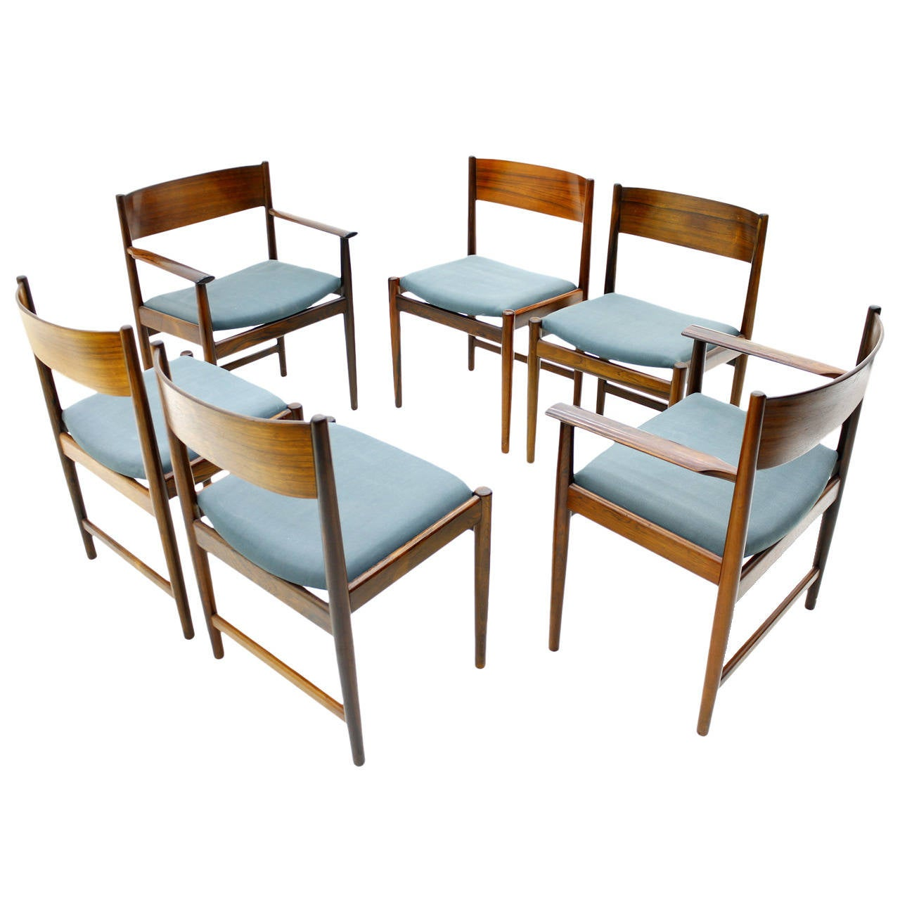 Set of Six Kurt Ostervig Dining Chairs for Sibast, Denmark 1960s