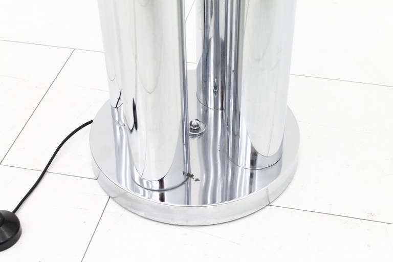 Italian Carlo Nason Floor Lamp, Mazzega Italy, Glass and Chrome, 1960s For Sale