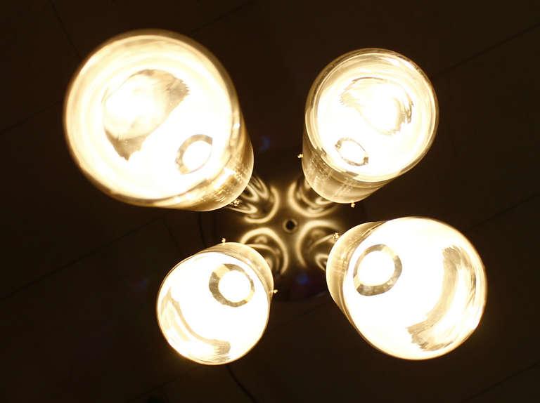 Carlo Nason Floor Lamp, Mazzega Italy, Glass and Chrome, 1960s For Sale 1