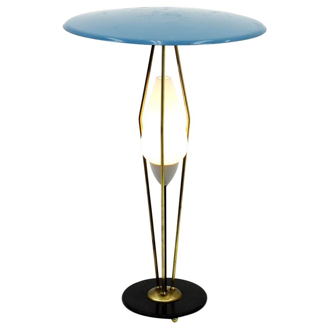 1950s Table Lamp in Style of Angelo Lelli, Italy