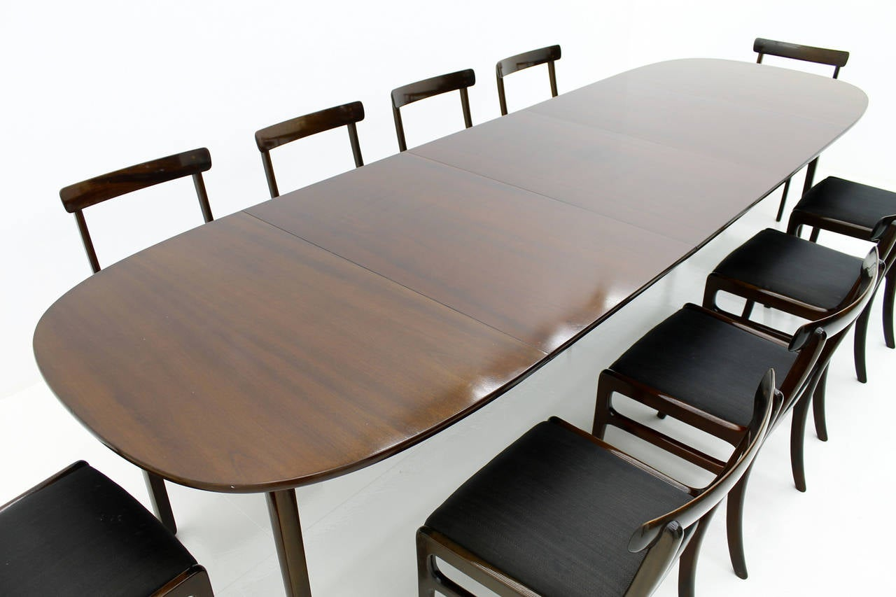 large dining room set by ole wanscher rungstedlund