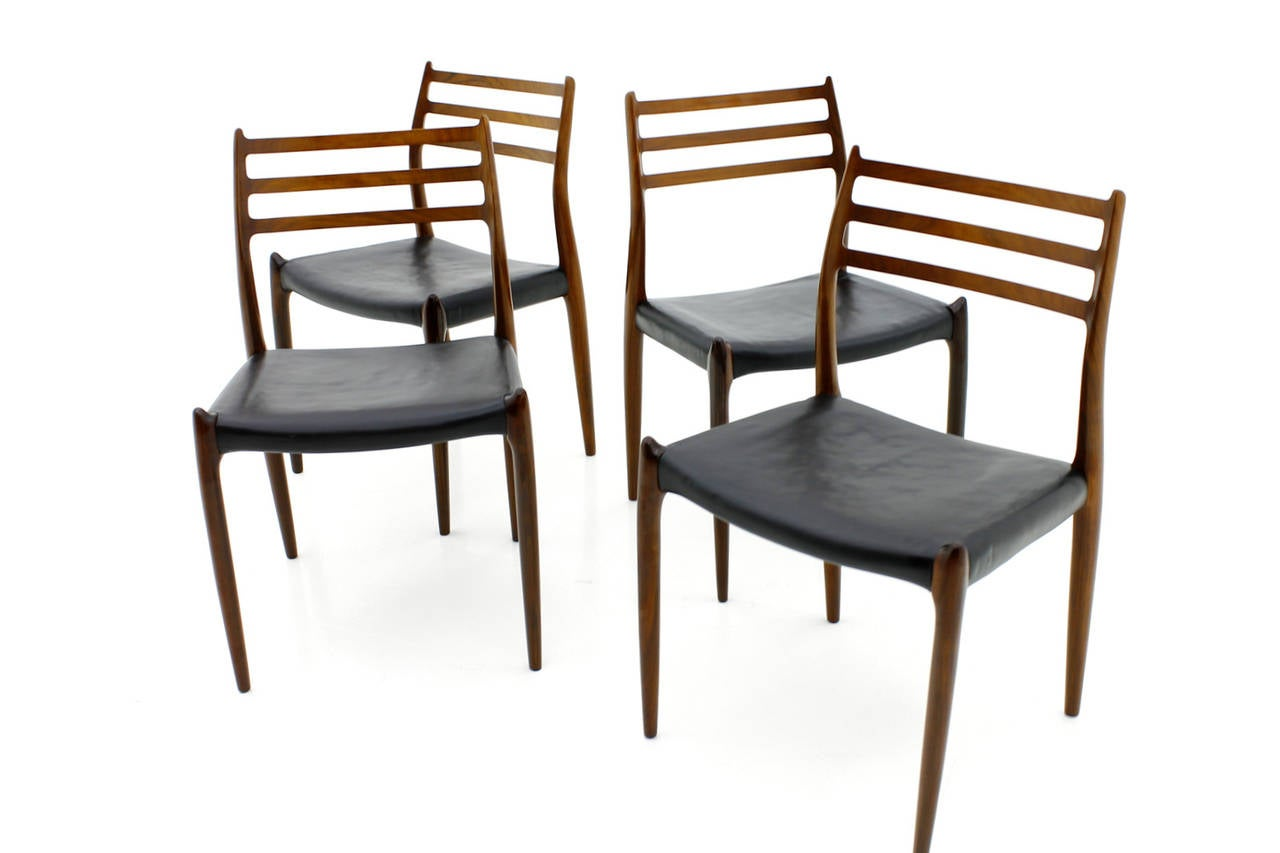 Set Of Four Niels O M Ller Dining Room Chairs Model 78 In