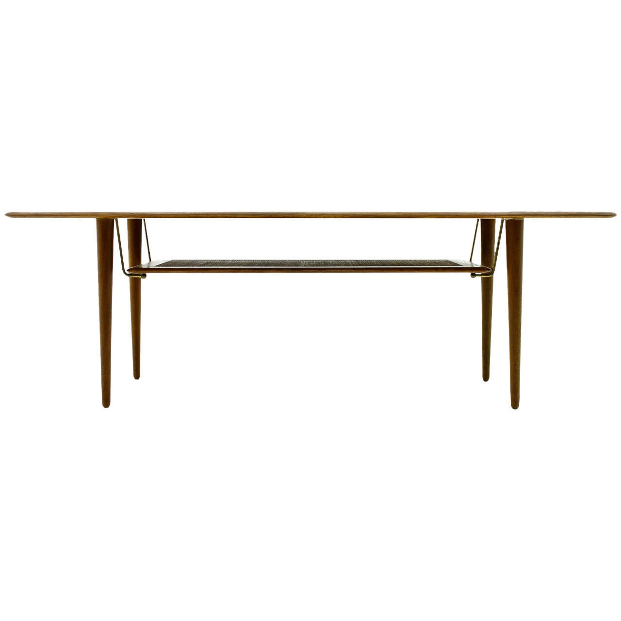 Beautiful Teak Wood Coffee Table by Peter Hvidt & Orla Molgaard Nielsen, DK 1956
