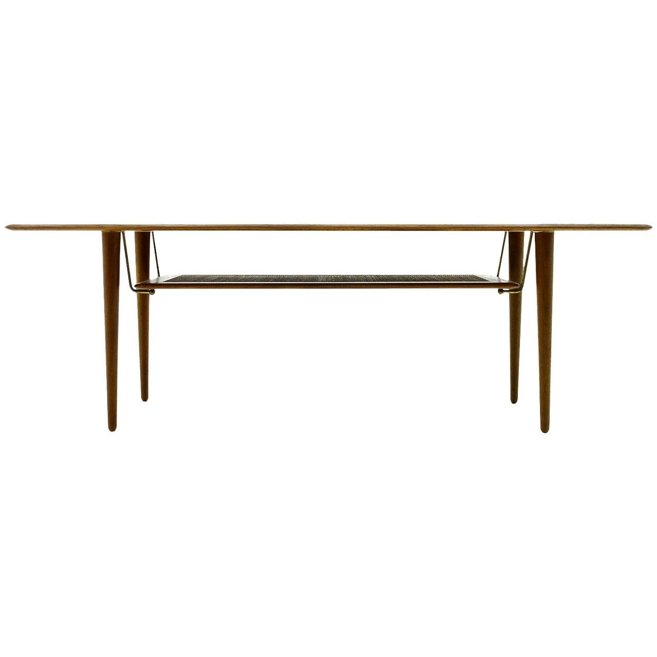 Danish Teak Wood Coffee Table by Peter Hvidt & Orla Molgaard Nielsen, 1956