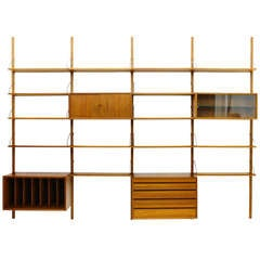 Teak Wood Royal Wall system by Poul Cadovius, 1958