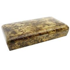 Rare Goatskin Cigar Box by Aldo Tura, Italy, 1960s