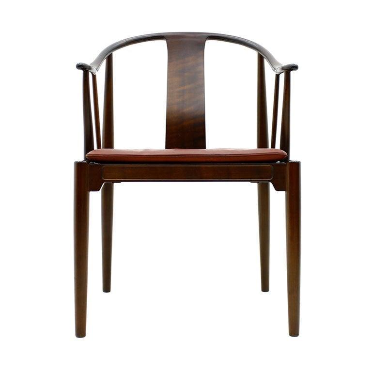 Amazing Hans J. Wegner China Chair, Mahogany For Sale