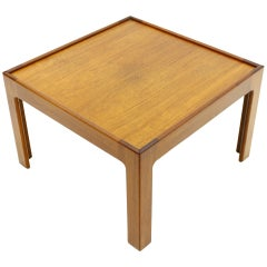 Tea Wood Side Table, Coffee Table by Illum Wikkelso, Denmark 1960s.