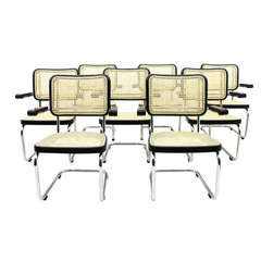 Rare Set of Eight Steel Tube Lobby Chairs S67F by Mart Stam for Thonet, 1939