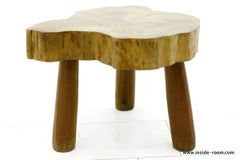 Beautiful Solid Wood Table or Stool, circa 1960s