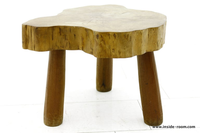 Beautiful Solid Wood Table or Stool, circa 1960s For Sale