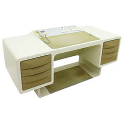 Directors Desk with Integrate Telephone by Ernest Igl, Germany 1970