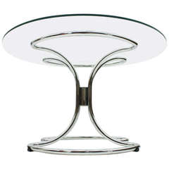 Glass and Steel Tube Dining Table by Giotto Stoppino, Italy 1960`s