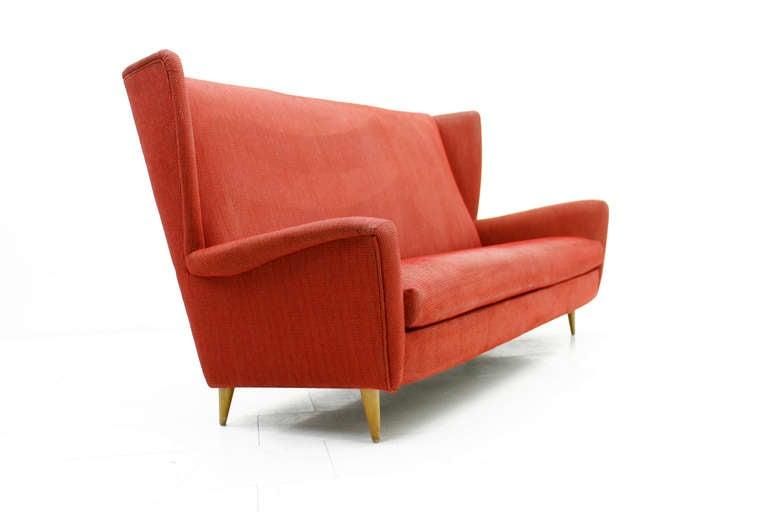 Nice Sofa : Nice Midcentury Wingback Sofa at 1stdibs