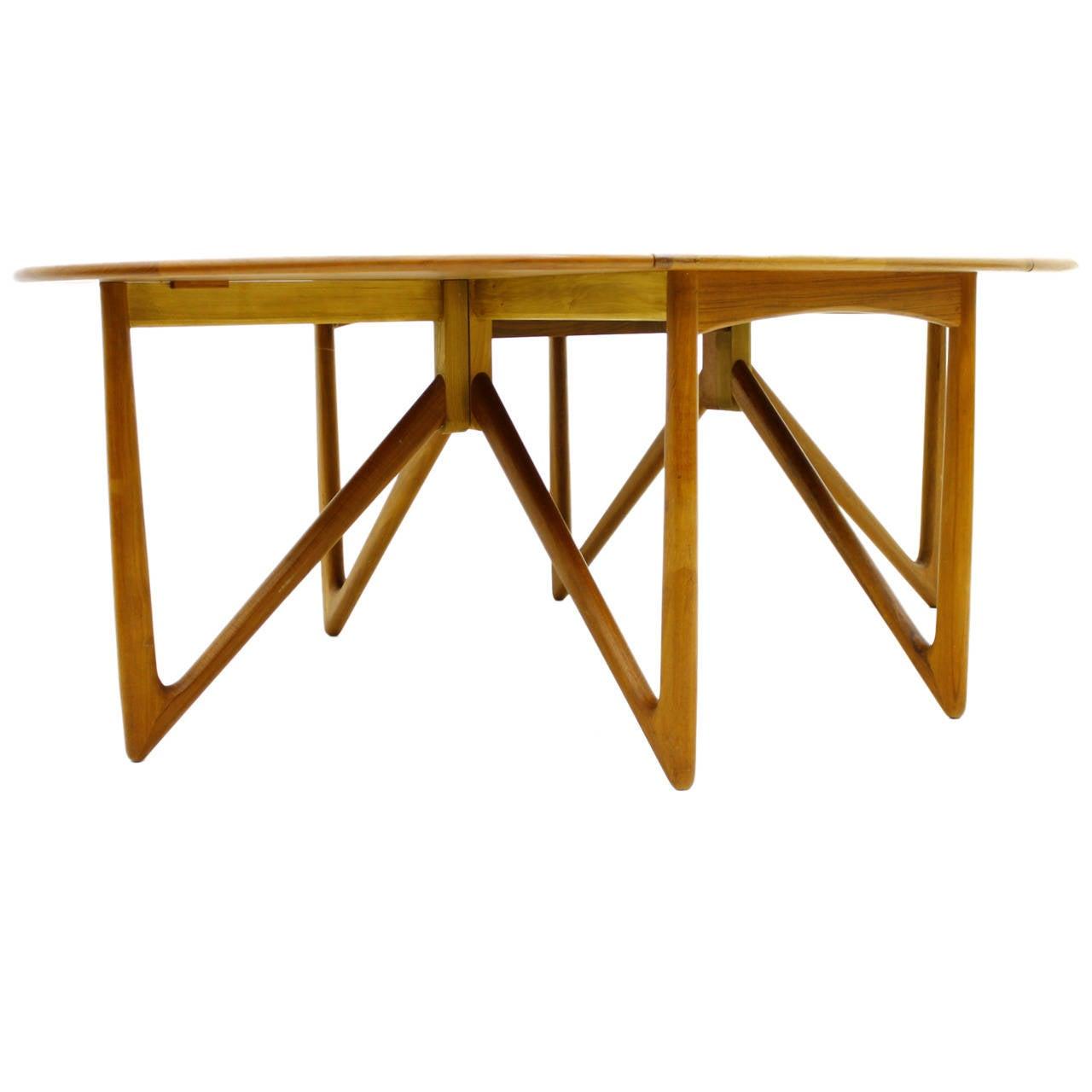 Kurt Ostervig Drop-Leaf Teak Dining Table, Jason Mobler, Denmark 1960`s