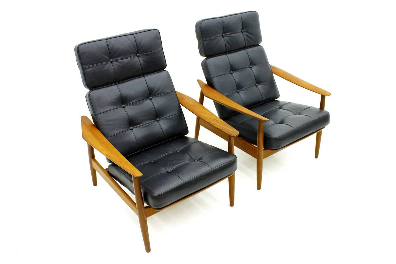 Danish Reclining Lounge Chairs Teak and Leather by Arne Vodder 1960 3  sc 1 st  1stDibs & Danish Reclining Lounge Chairs Teak and Leather by Arne Vodder ... islam-shia.org