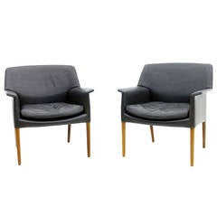 Pair Danish Lounge Chairs by Ejnar Larsen & Aksel Bender
