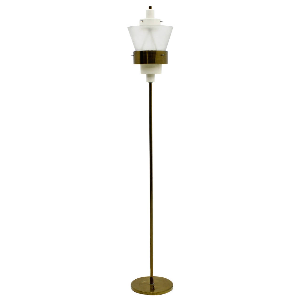 Stilnovo floor lamp in brass and lucite italy circa 1950s for 1950 s brass floor lamp