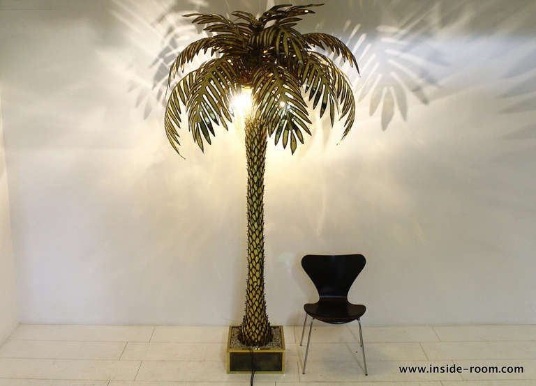 Giant Maison Jansen Palm Tree Floor Lamp At 1stdibs