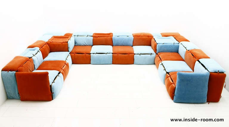 very rare seating lounge group sofa by otto zapf germany image 2. Black Bedroom Furniture Sets. Home Design Ideas