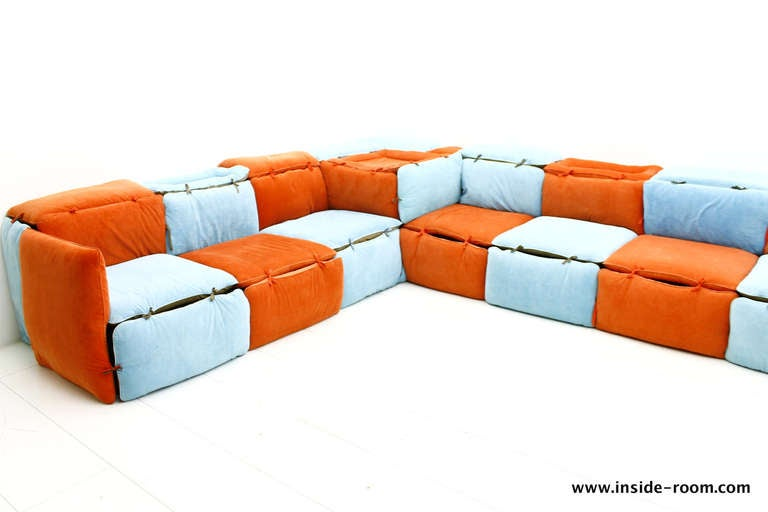 Very Rare Seating Lounge Group Sofa by Otto Zapf Germany at 1stdibs