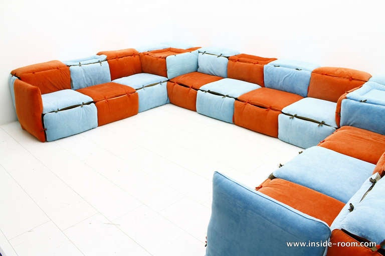 very rare seating lounge group sofa by otto zapf germany image 5. Black Bedroom Furniture Sets. Home Design Ideas