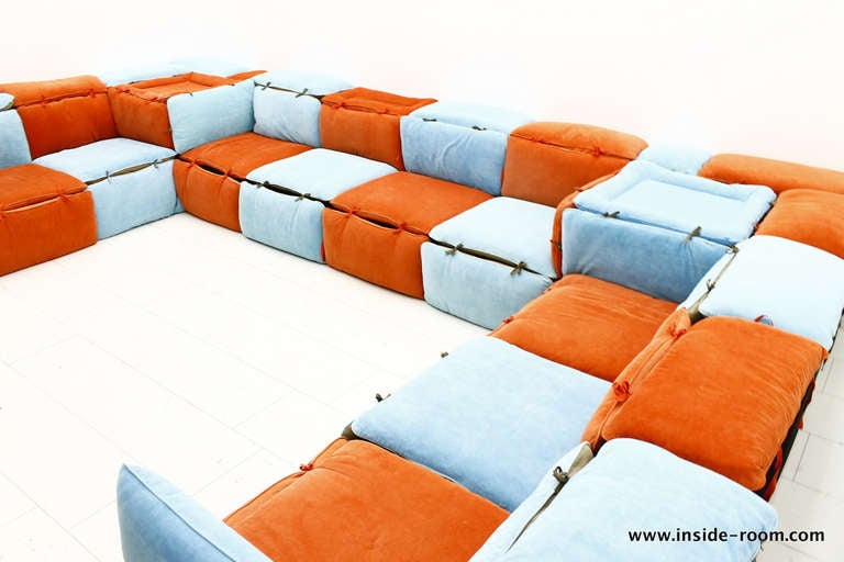very rare seating lounge group sofa by otto zapf germany image 6. Black Bedroom Furniture Sets. Home Design Ideas