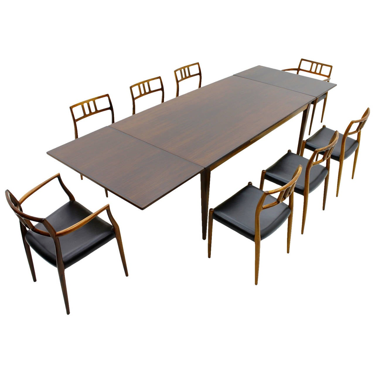 Exclusive Danish Rosewood Dining Room Set By Niels O M Ller 1960s At 1stdibs