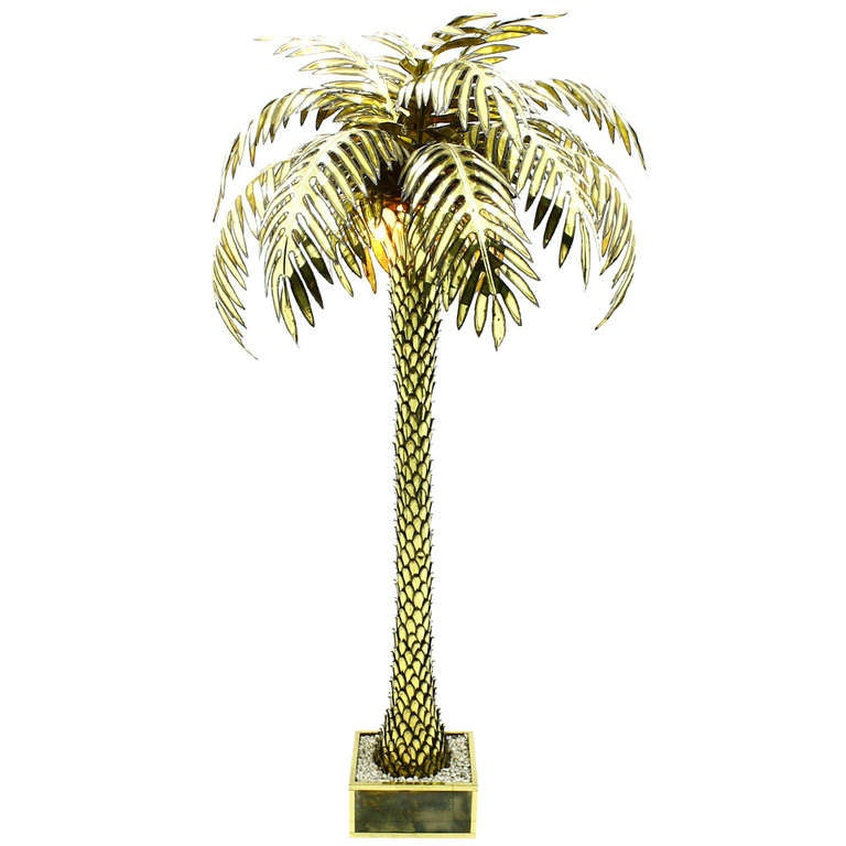 giant maison jansen palm tree floor lamp at 1stdibs