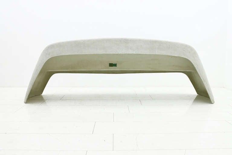 Fiberglass Garden Bench : Walter papst fiberglass outdoor bench wikhahn germany