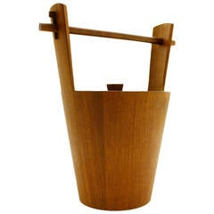 Teak Ice Bucket by Anri Form Italy 1960`s