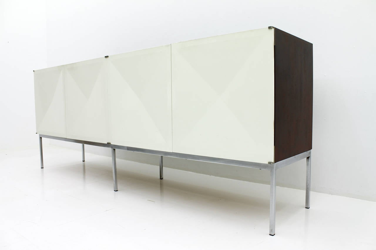 Philippon and Lecoq Sideboard with White Doors Behr 1962