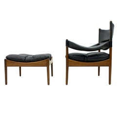 Kristian Solmer Vedel Rosewood Lounge Chair & Ottoman