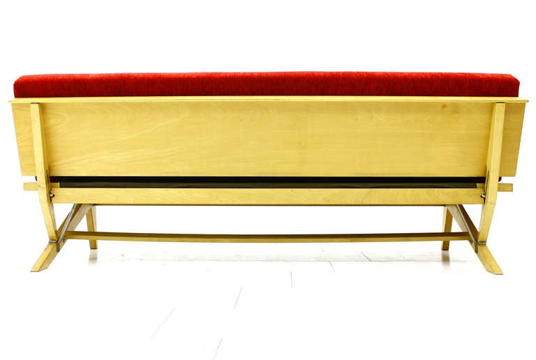 daybed sofa by domus germany 1950s for sale at 1stdibs. Black Bedroom Furniture Sets. Home Design Ideas