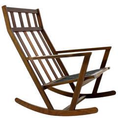 Poul Volther Rocking Chair, Frem Rojle Denmark, 1960`s
