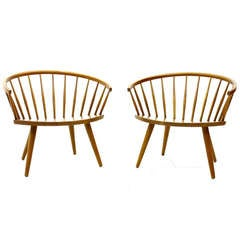 A pair Arka Chairs by Yngve Ekström, Sweden