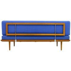 Minerva Teak Wood Daybed / Sofa by Peter Hvidt & Molgaard, Denmark