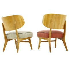 Rare Pair of Lounge Chairs by Herta-Maria Witzemann, Germany, 1957