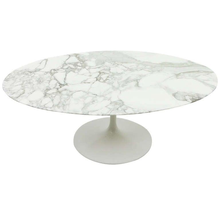 eero saarinen oval sofa table marble knoll at 1stdibs. Black Bedroom Furniture Sets. Home Design Ideas