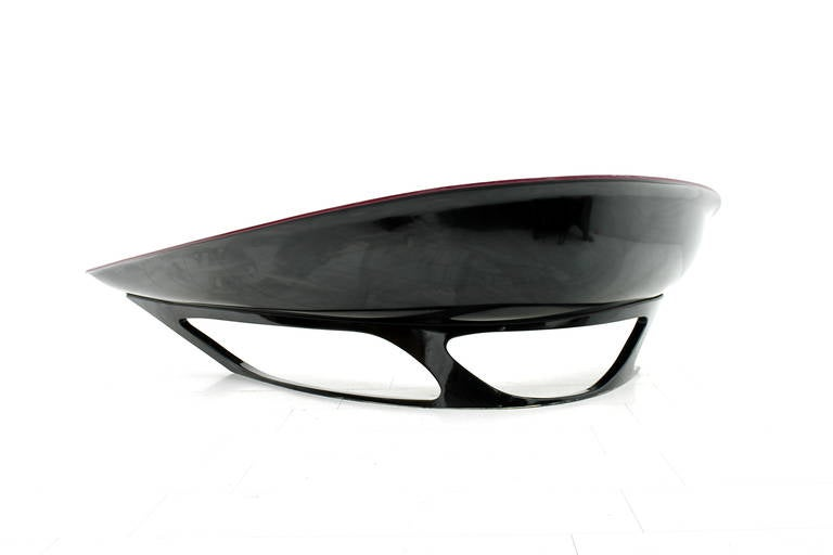 20th Century Stefan Sterf Ecstasy Fiberglass Boomerang Bench Germany, circa 1990s For Sale