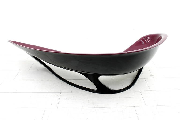 Stefan Sterf Ecstasy Fiberglass Boomerang Bench Germany, circa 1990s For Sale 1